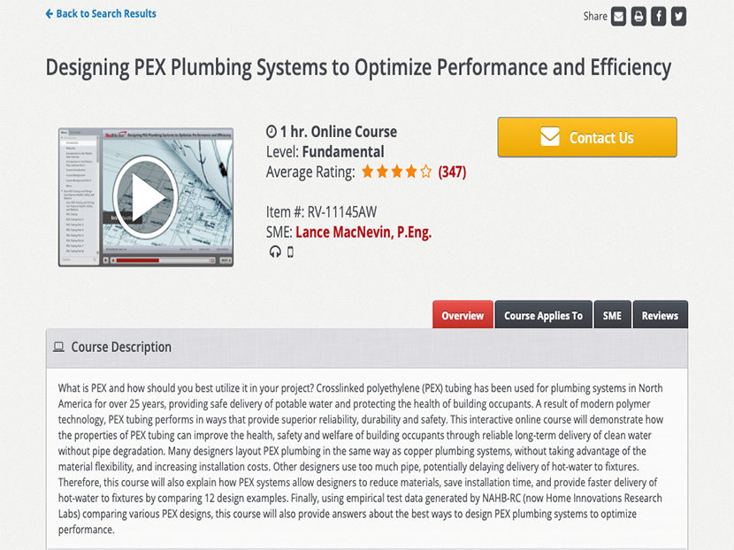 PPI Introduces Online PEX Design Course