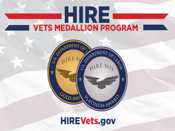 Trademasters Service Receives HIRE Vets Medallion Award