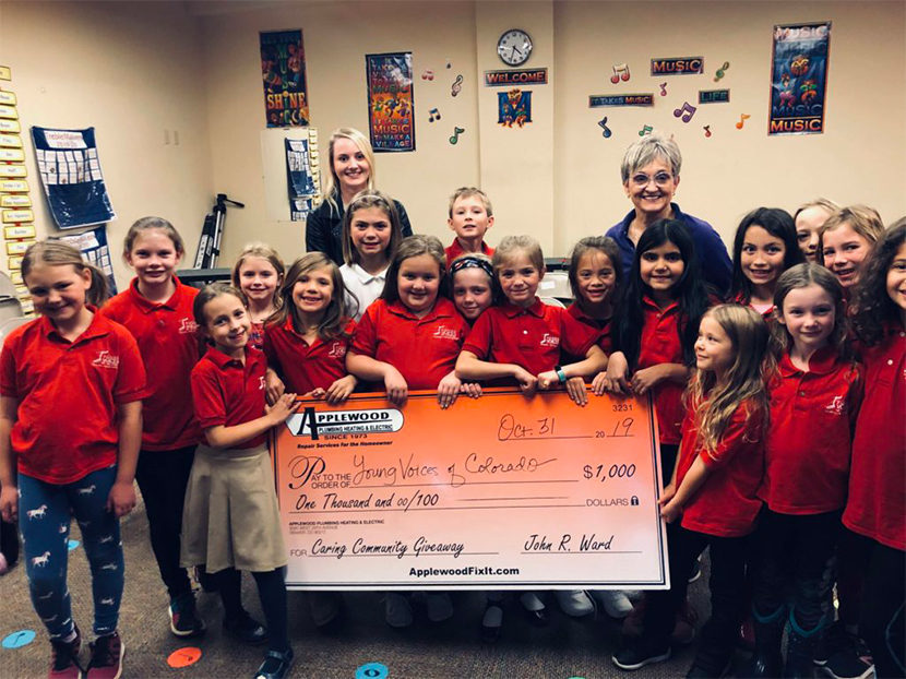 Applewood Awards $1,000 to Young Voices of Colorado