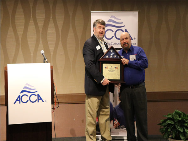 Craig Sabol, Presidential Heating & Air Conditioning, Named ACCA 2019 Service Manager of the Year