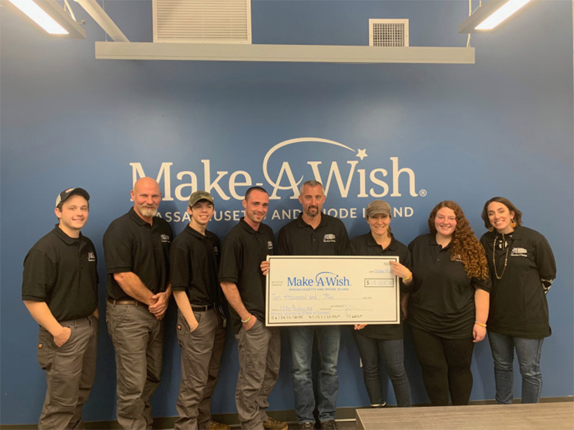 J. Ellis Plumbing and Heating Donates $10,000 to Make-A-Wish