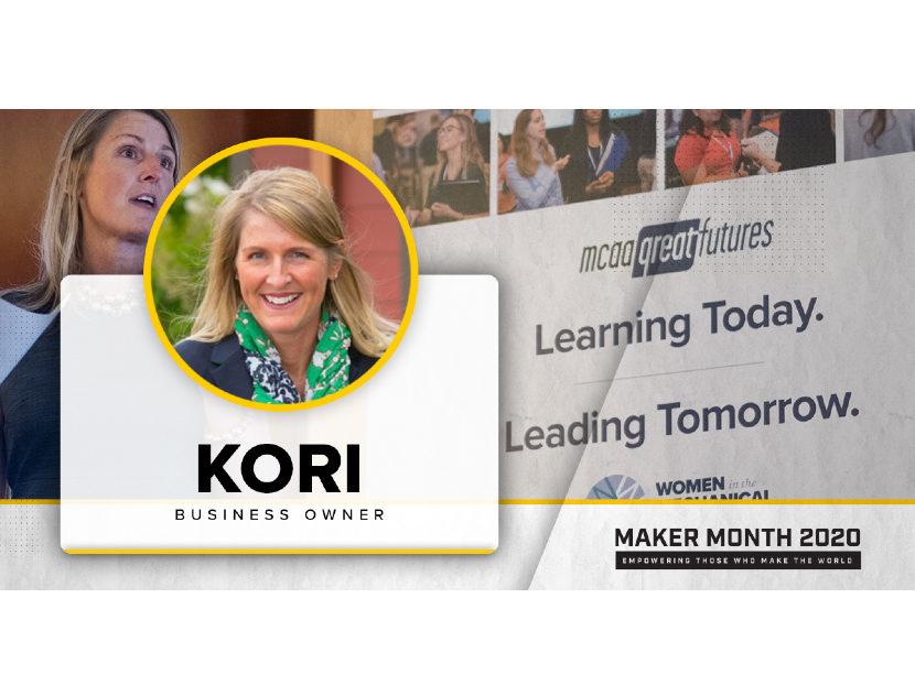 MCAA Kori Gormley-Huppert Featured in Maker Month Profile 2