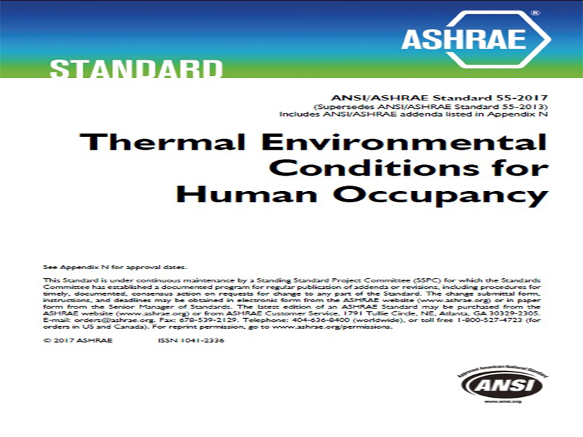 ASHRAE Publishes 2017 Version Of Thermal Comfort Standard