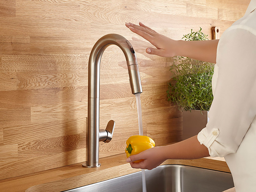 Beale Touchless Kitchen Faucet Wins German Design Award - Touch activated kitchen faucet