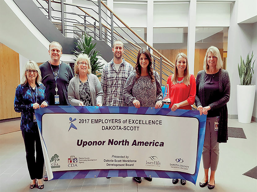 Uponor Recognized as an Employer of Excellence
