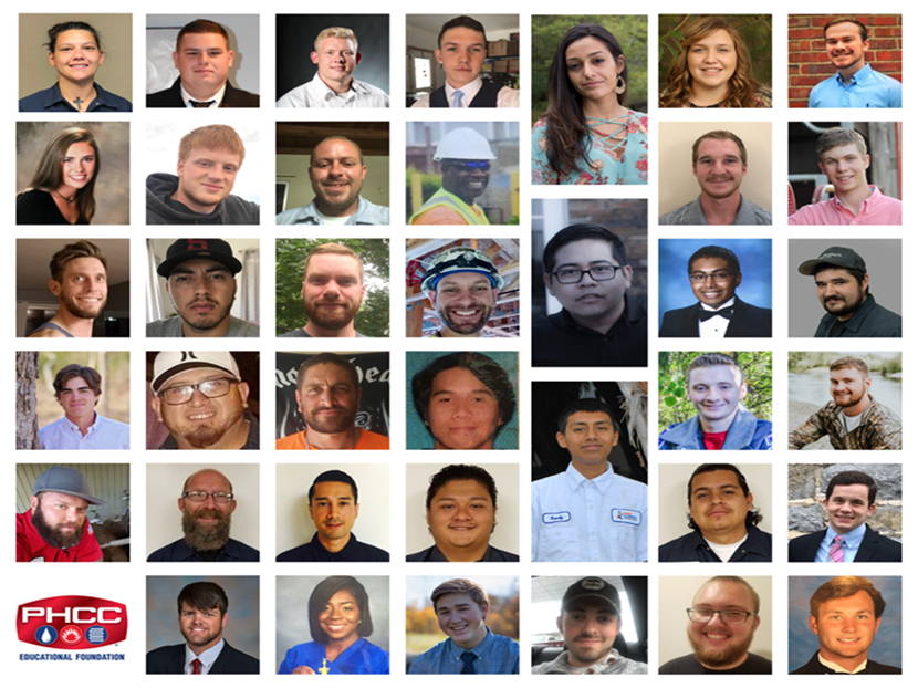 Eighteen additional students have received 2018 scholarships thanks to $45,000 in funding provided by A. O. Smith, Bradford White, Delta Faucet Company, RIDGID and State Water Heaters.
