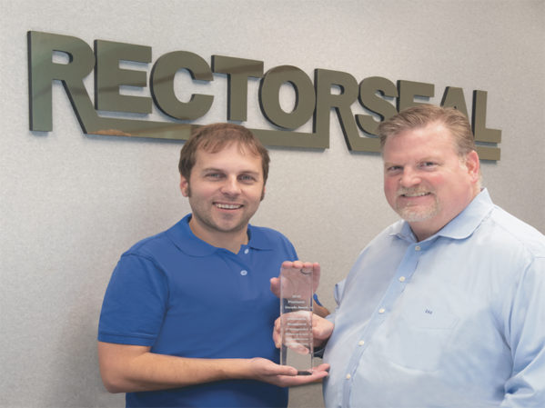 RectorSeal Receives Top Sales Performance Award From Key Wholesalers Group