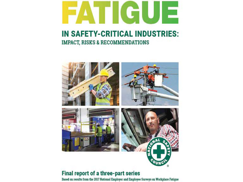 Safety Report: Nearly 70 Percent of 'Safety Critical' Workers Are Tired on the Job