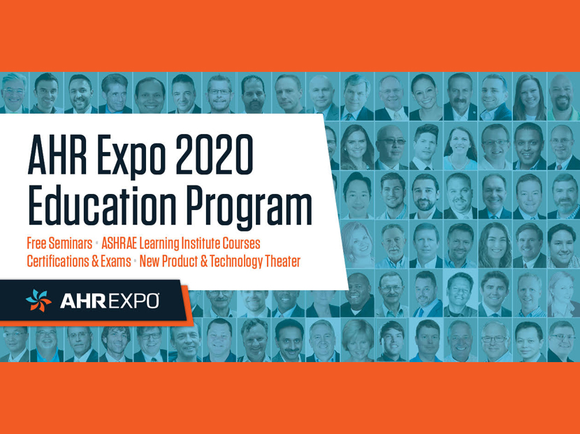 AHR Expo Announces 2020 Education Program
