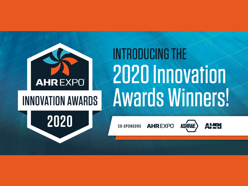 AHR Expo Announces 2020 Innovation Award Winners