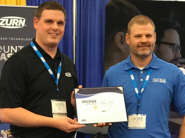 Zurn Recognizes Dave Texter as Specifier of the Year
