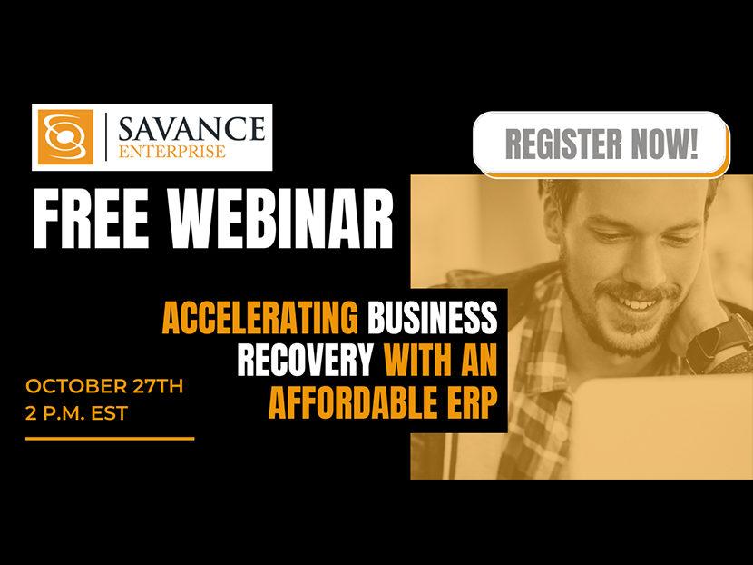 Savance Enterprise to Host Free Webinar for Distributors 2