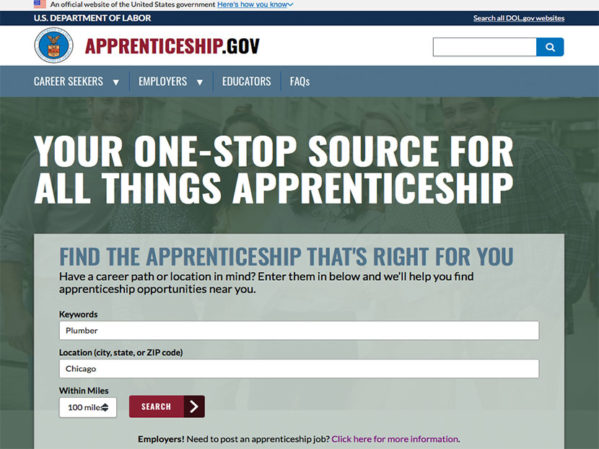 DOL Launches Apprentice Finder Website