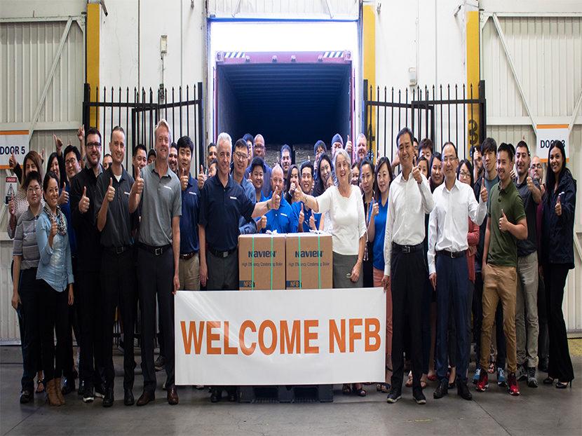 Navien Begins Distribution of NFB Fire Tube Boilers