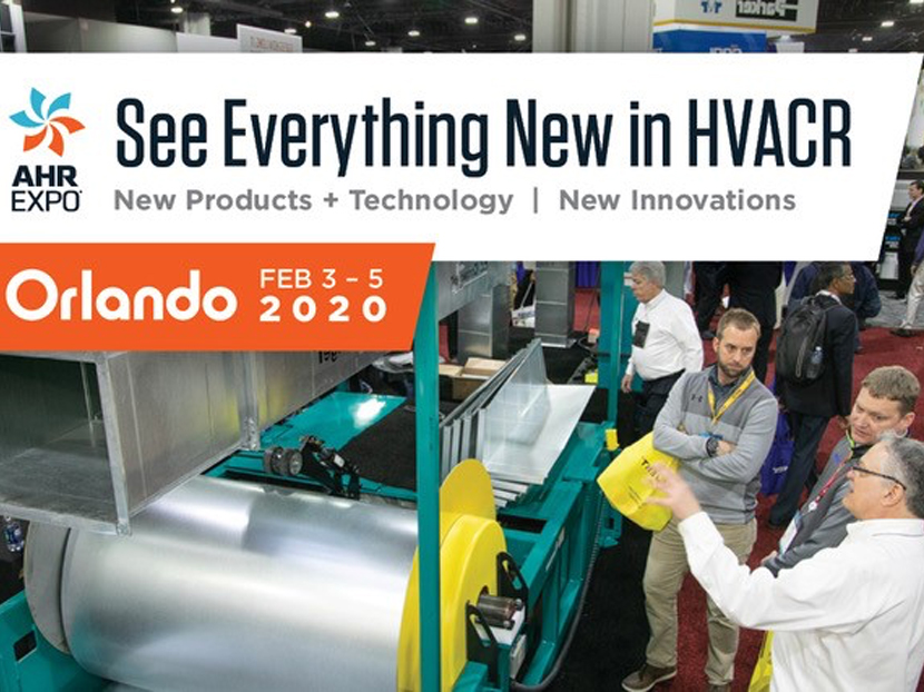 AHR Expo Announces 2020 Product and Technology Preview
