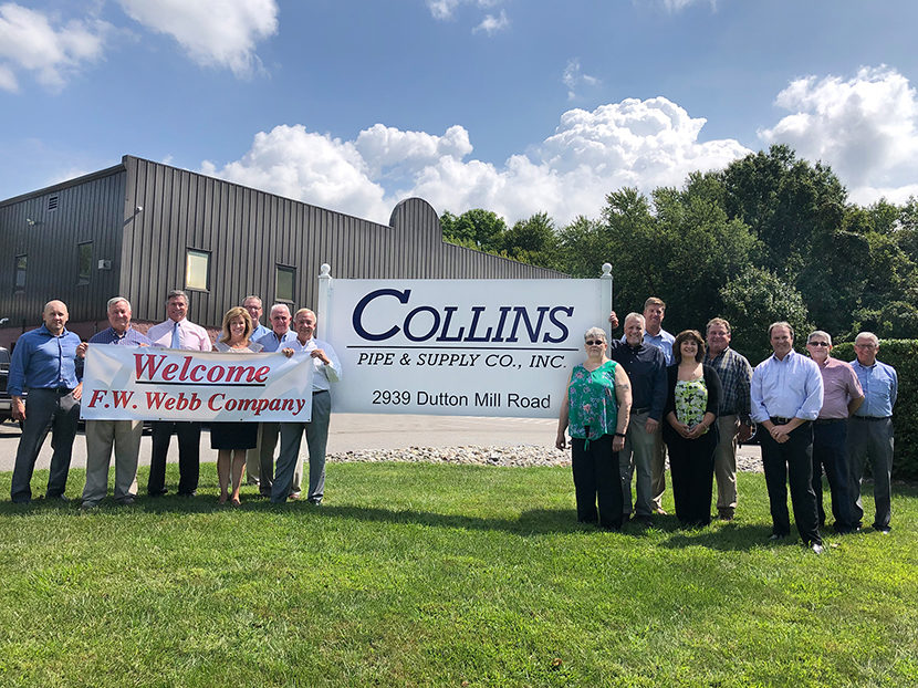 F.W. Webb Company to Acquire Collins Pipe & Supply Co. Pennsylvania Location 2