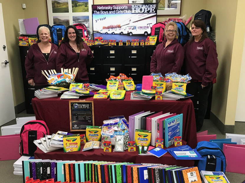Nebrasky Plumbing, Heating & Cooling Donates to Backpacks for Hope Program