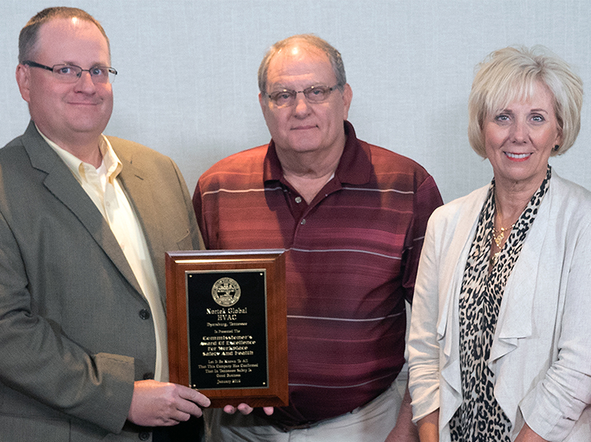 Nortek Global HVAC Tennessee Manufacturing Plant Presented with Workplace Safety and Health Award