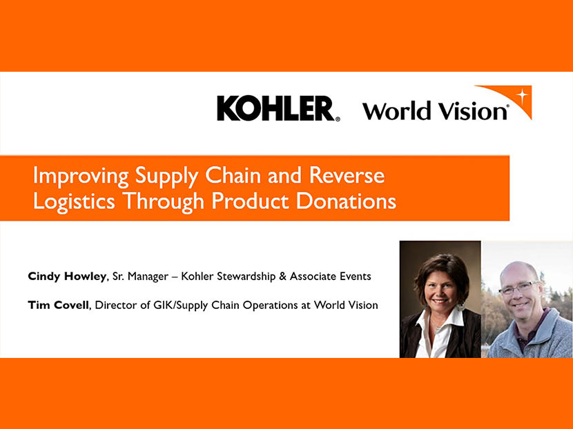 World Vision and Kohler to Host Free Webinar