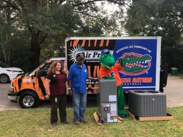 Florida Gators and Air Pros USA Surprise Local Veteran with AC Unit