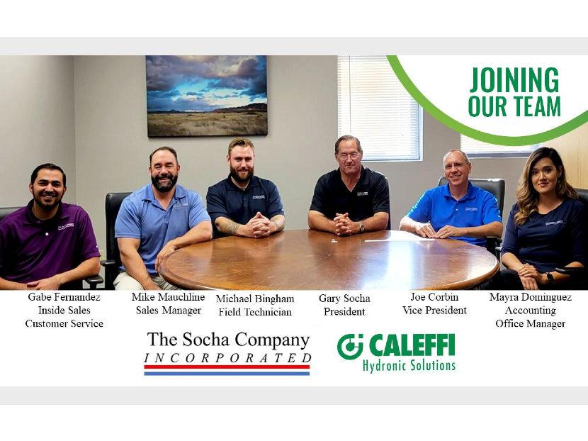 Caleffi Announces Partnership with The Socha Company