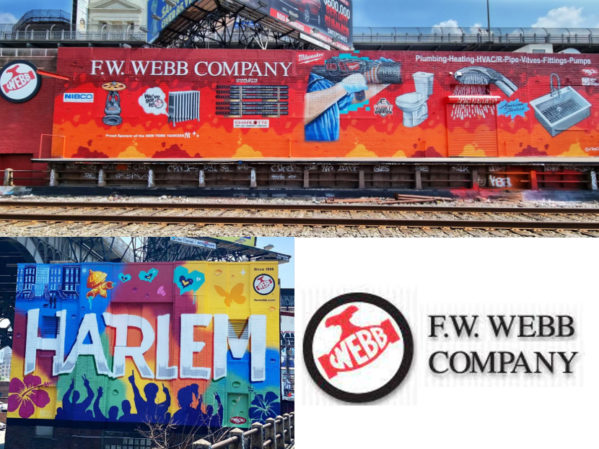 F.W. Webb Company Unveils New Mural in West Harlem
