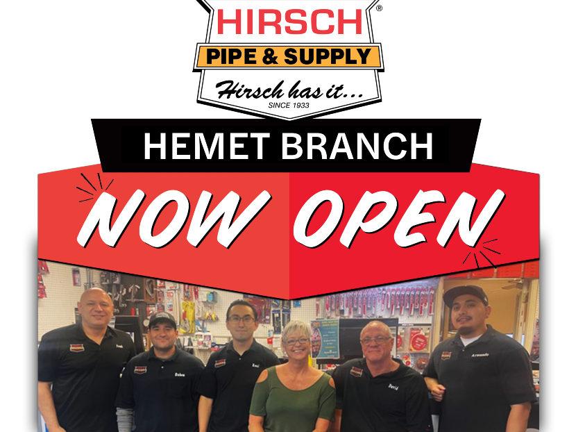 Hirsch Pipe & Supply Acquires Hemet Valley Pipe & Supply