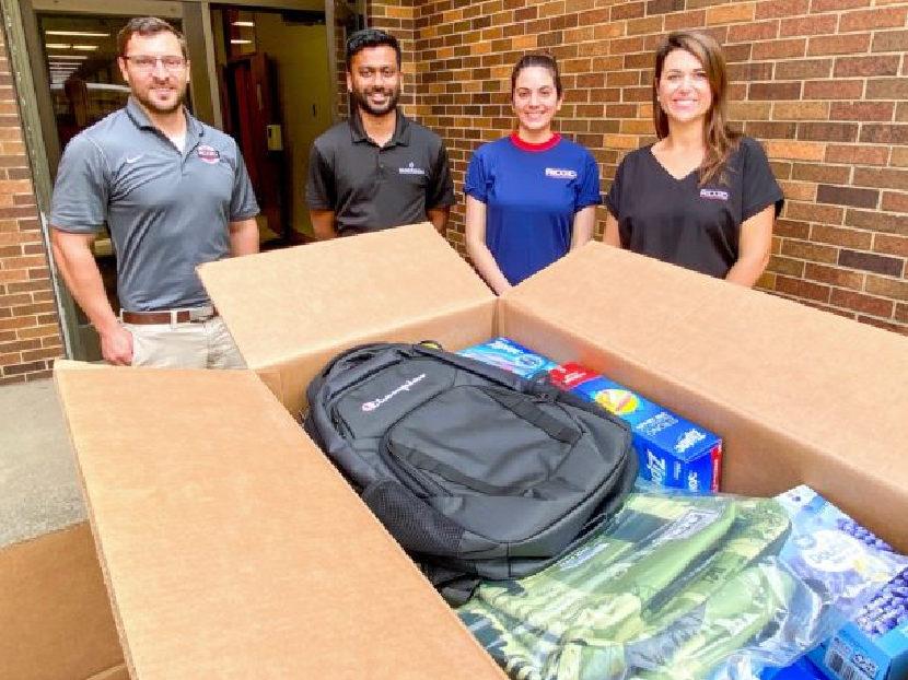 RIDGID Employees Donate School Supplies to Benefit Elyria City School District