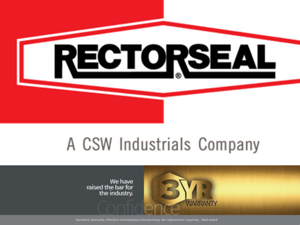 Three-Year Limited Warranty Now Standard on RectorSeal Products