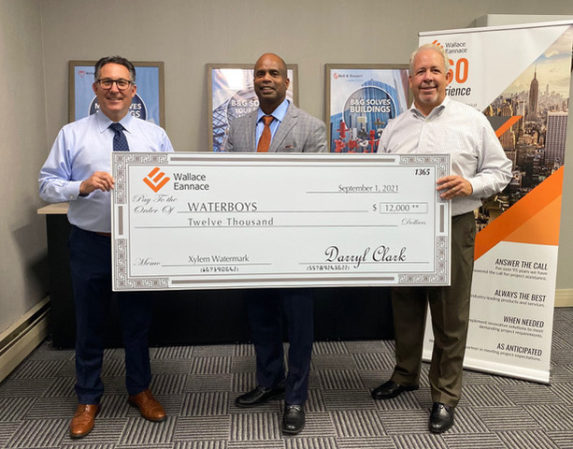 Wallace Eannace, FHRA, Friends, Colleagues and Xylem Watermark Raise $12,000 for Waterboys