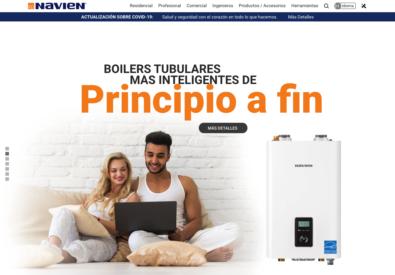 Navien website now offered in spanish