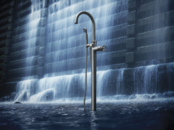 California Faucets High Flow Rate Single Handle Tub Filler 2