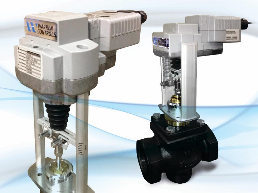 Warren Controls Electrically Actuated HVACBAC Control Valves