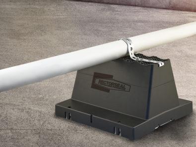 Rectorseal rooftop pipe support