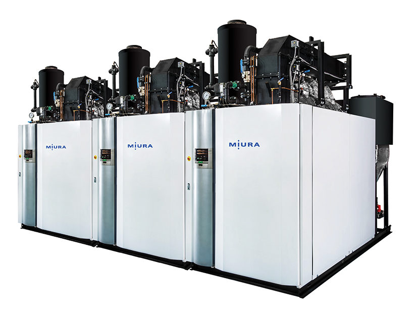 Miura LX Gas/Low NOx Series, Low and High Pressure Steam Boiler