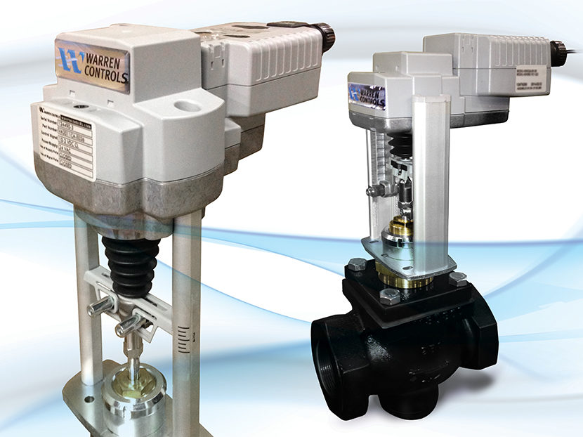 Warren Controls Electrically Actuated HVAC/BAC Control Valves