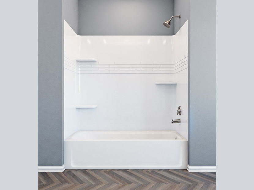 E.L. Mustee & Sons TOPAZ Premium Fiberglass Bathtub Wall