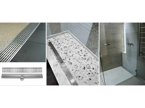 LUXE Linear Drains Modular V Channel Wedgewire Drain Kit