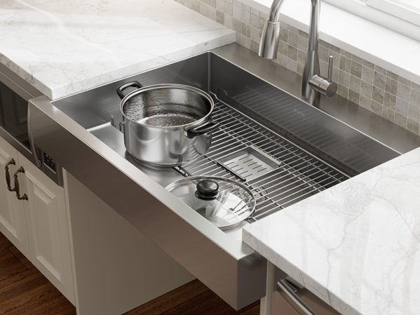 Elkay ADA Dual-Depth Stainless Steel Farmhouse Sink