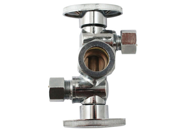 Keeney-Dual-Handle-Dual-Outlet-Heavy-Brass-Ball-Valves