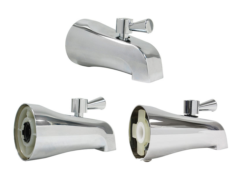 Kissler & Co. Drip-Free, Quarter Turn Positive Stop Diverter Tub Spout