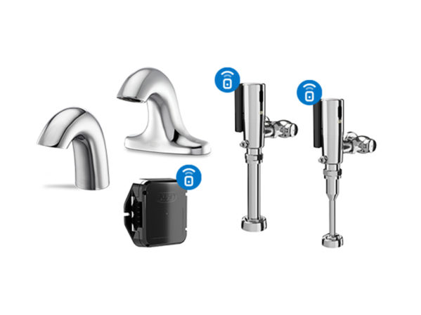 Zurn Connected Products: Battery-Operated Sensor Faucets, Flush Valves, and Retrofit Kits