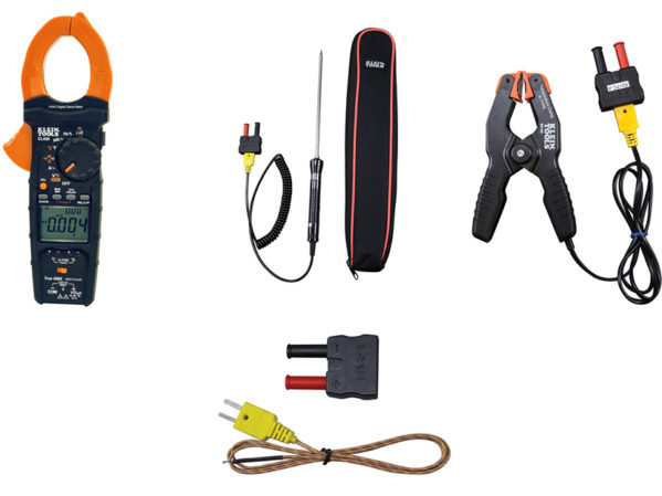 Klein-Tools-HVAC-Clamp-Meter-with-Differential Temperature-and-K-Type-Temperature-Accessories