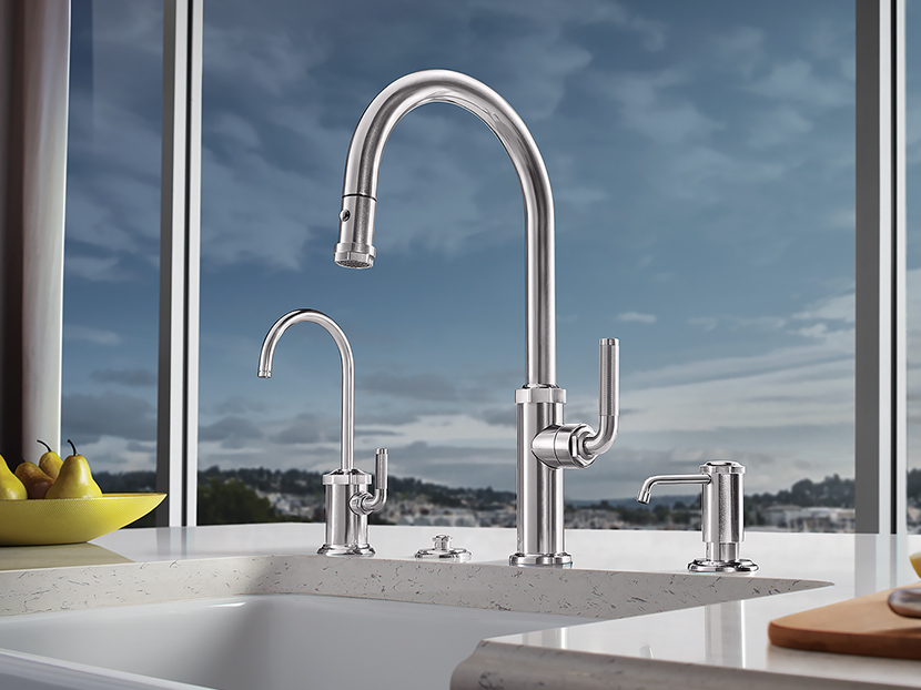 California Faucets Descanso Series Pull-Down Kitchen Faucet ...