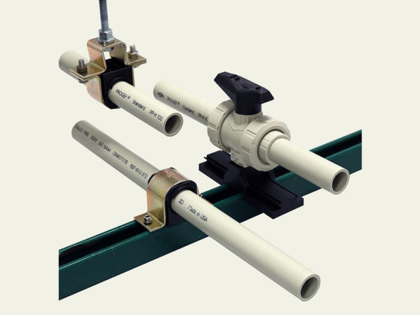 GF Piping Systems Stress Less Pipe and Valve Support System