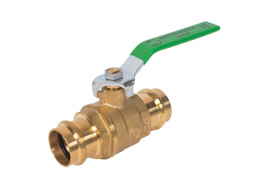 Matco-Norca Lead Free 759 Press Ball Valve with Leak-Prior-to-Press Design