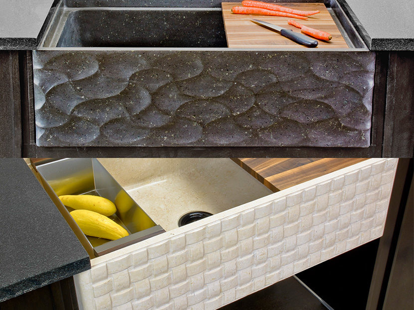 Stone-Forest-Wave-Front-and-the-Basket-Weave-Pattern-Farmhouse-Sinks