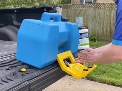 Plumbmaster and speakman mobile gravity operated hand wash station 2