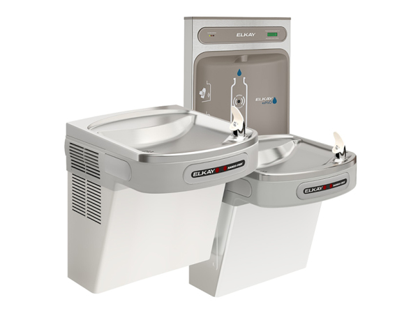 Elkay ezH2O Bottle Filling Station with Bi-level ADA Cooler (dual), Hands-free Activation, 8 GPH