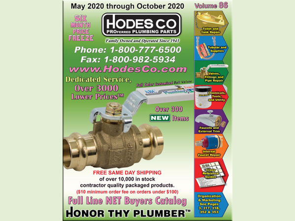 Hodes Co. May–October Plumbing Parts Catalog